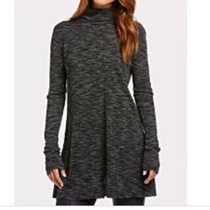 Free People NWT Stonecold Tunic Dress Top Gray